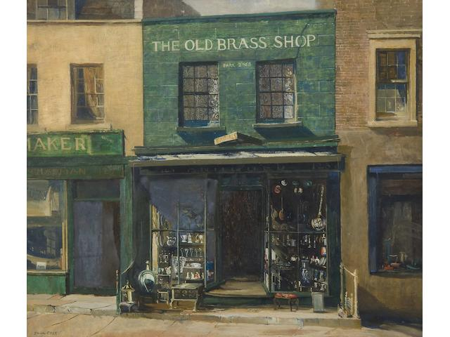 John Vicat Cole (British, 1903-1975) The Old Brass Shop, 125 Kensington Church Street