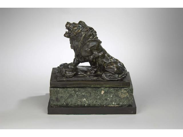 After Auguste Rodin: Le Lion Qui Pleure