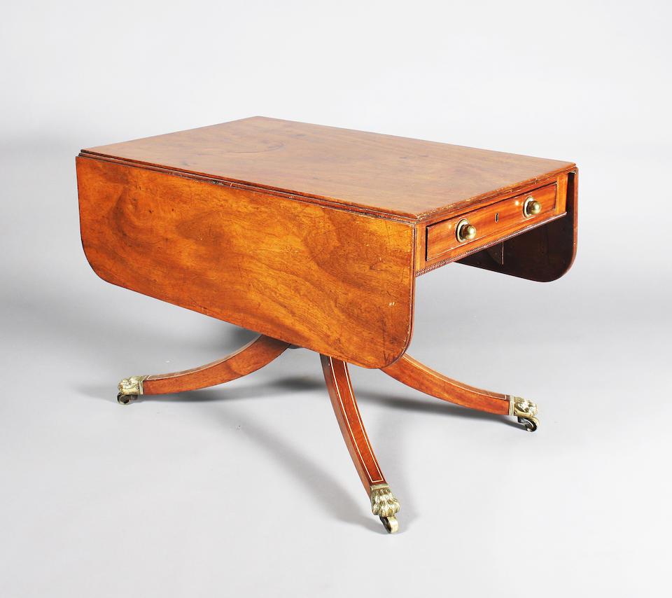 A George IV mahogany Pembroke breakfast table
