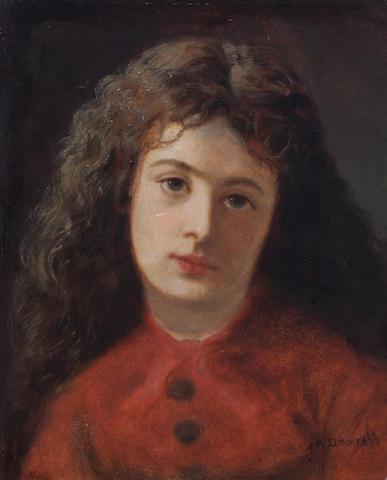 Alfred Elmore (British, 1815-1881) 'Cinderella' 30 x 25cm.