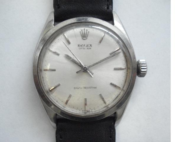 Rolex. A stainless steel centre seconds wristwatch Oyster, 1960's
