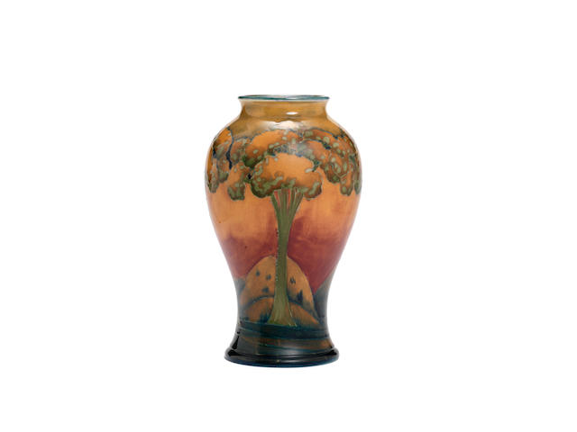 William Moorcroft  'Eventide' a good baluster vase, circa 1920