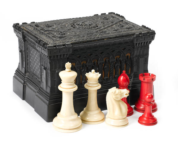 A Staunton ivory chess set, Jaques, 19th century,