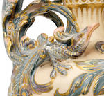 Mark Marshall, attributed, for Doulton Lambeth An unusual Carrara ware ewer and cover, circa 1890