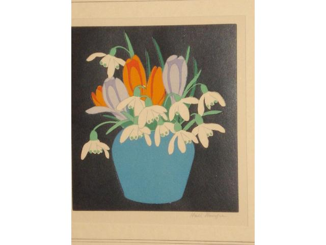John Hall Thorpe (British, 1874-1947) Flowers in a vase, (4),