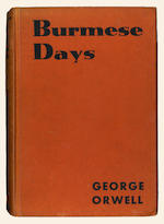 ORWELL (GEORGE) Burmese Days, FIRST EDITION, AUTHOR'S PRESENTATION COPY