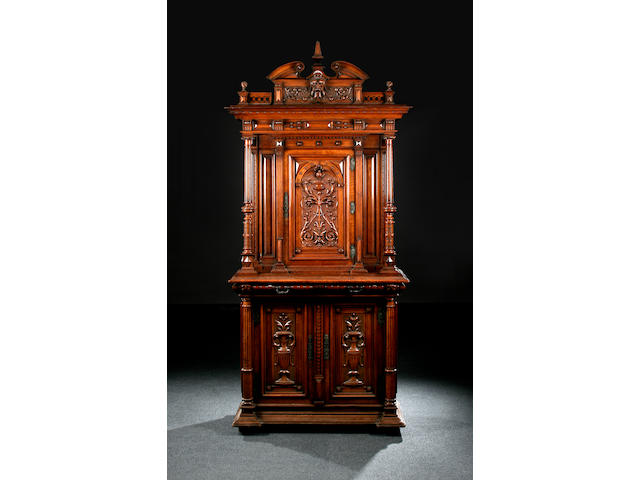 A French walnut cabinet, circa 1880