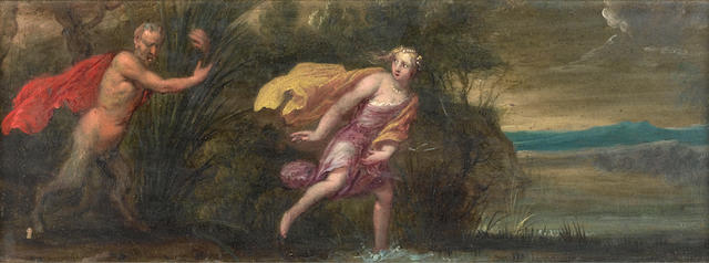 Antwerp School, 17th Century Pan and Syrinx; and Pyramus and Thisbe  (2)