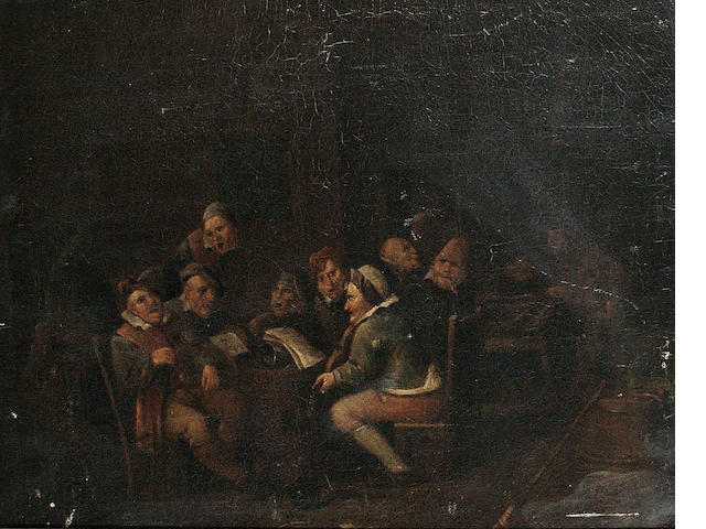 Follower of Egbert van Heemskerck the Younger (Haarlem circa 1676-1744 London) Figures in a tavern