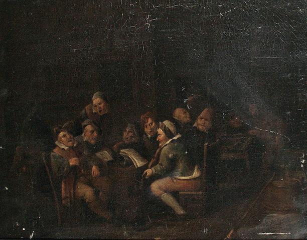 Follower of Egbert van Heemskerck the Younger (Haarlem circa 1676-1744 London) Figures in a tavern