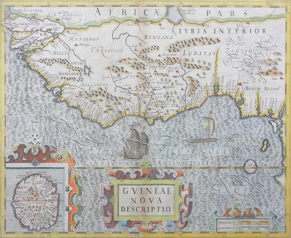 Guinea Mercator (Gerard)/Hondius (Jodocus) Guinea Nova Descriptio 34.5 x 49cm.