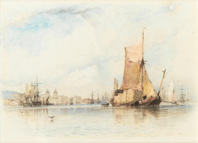 Edward William Cooke, RA (British, 1811-1880) Greenwich from the river