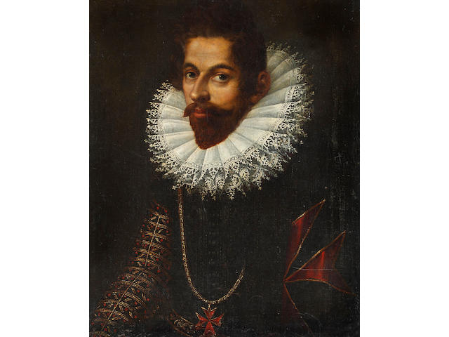 Follower of Frans Pourbus I (Flemish, 1545-1581) Portrait of Chevalier de Malte