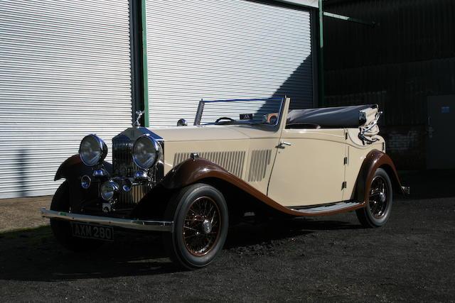 1934 Rolls-Royce 20/25hp Three-Position Owen Sedanca Coupé  Chassis no. CXB 13 Engine no. J3H