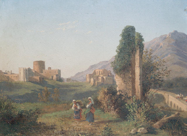 Attributed to Guglielmo Giusti (Italian, 1824-1916) The Castle of Mignano