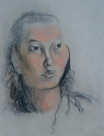 John Rattenbury Skeaping, RA (British, 1901-1980) Portrait study of a girl,