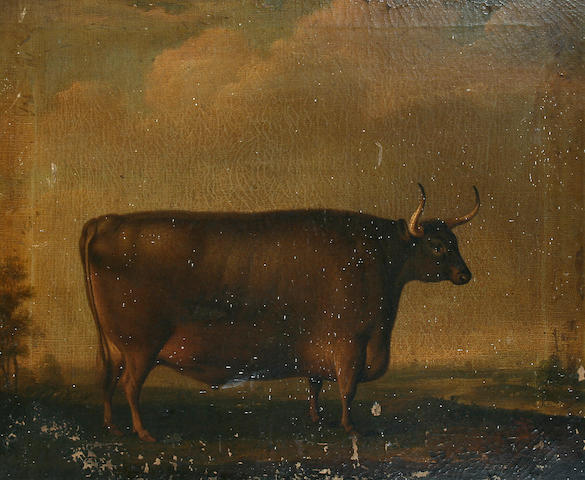 Thomas Weaver (British, 1774-1843) Bull in a landscape,