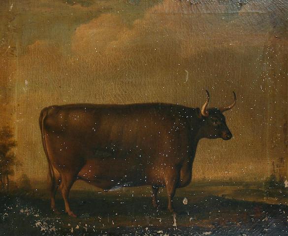 Thomas Weaver (British, 1774-1843) Bull in a landscape,