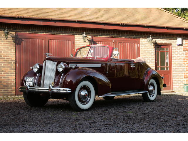 1939 Packard 'One Twenty' Eight Convertible Coupé  Chassis no. 48146 12893018 Engine no. B-303228