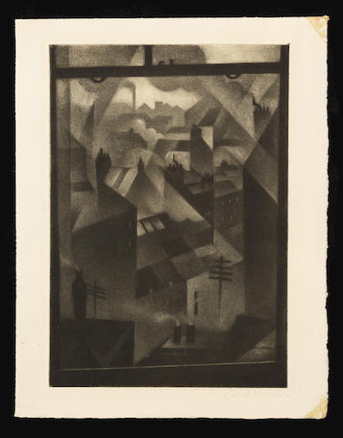 Christopher Richard Wynne Nevinson A.R.A. (British, 1889-1946) From an Office Window  Mezzotint, 191