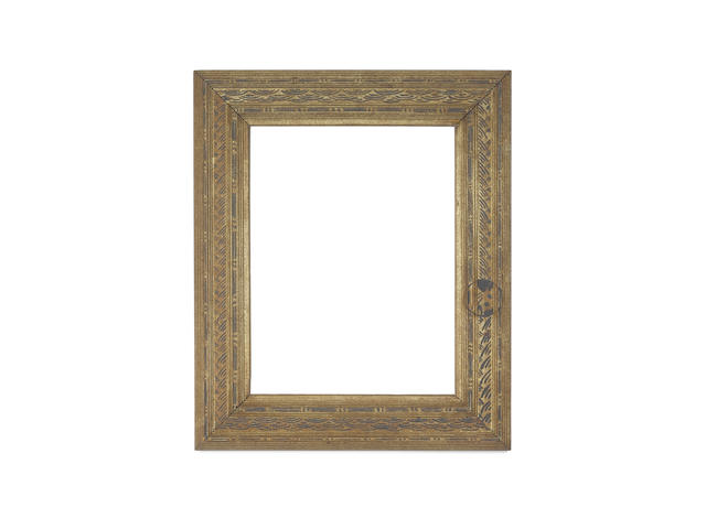 An English 19th Century carved and polychromed Whistler frame