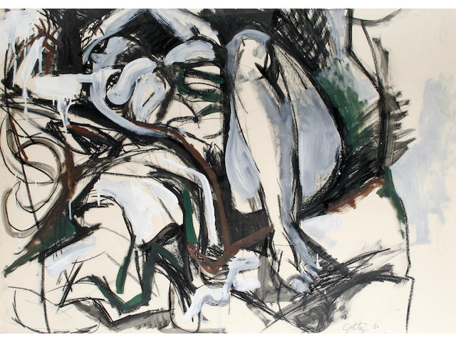 Renato Guttuso (Italian 1912-1987) Reclining female nude
