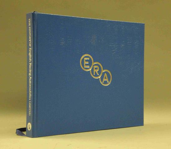 A limited edition copy of David Weguelin: ERA - The History of English Racing Automobiles; signed by Prince Bira,