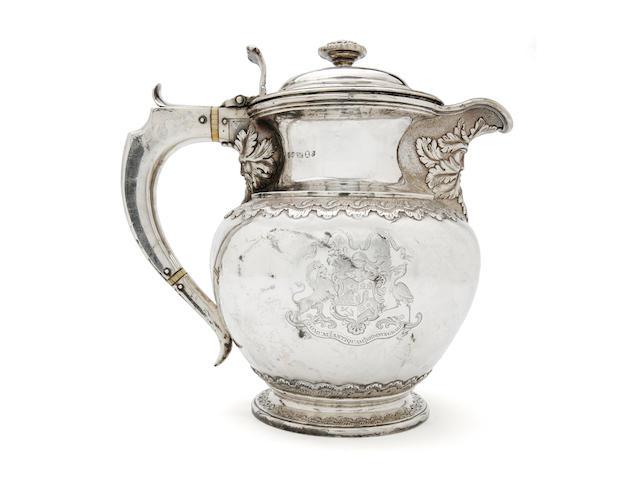 A George IV beer jug Edinburgh 1823