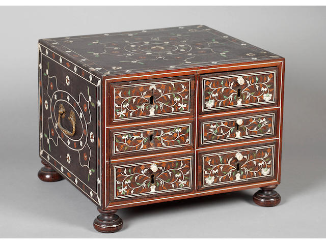 A 17th/18th Century Indian colonial table cabinet