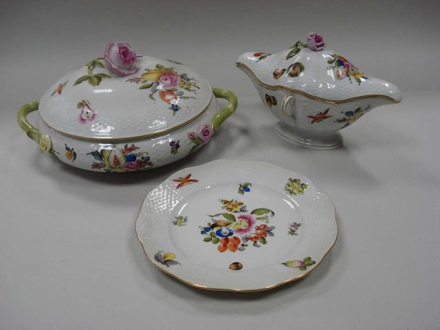 A porcelain dinner service by Herend 20th century