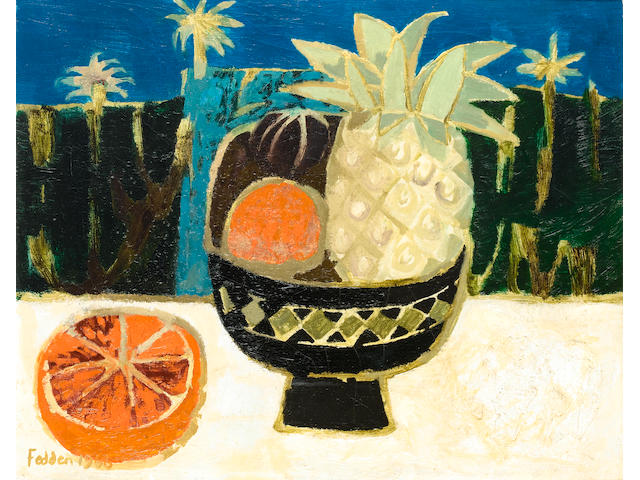 Mary Fedden R.A. (British, born 1915) African Bowl 43 x 54 cm. (17 x 21 1/4 in.)