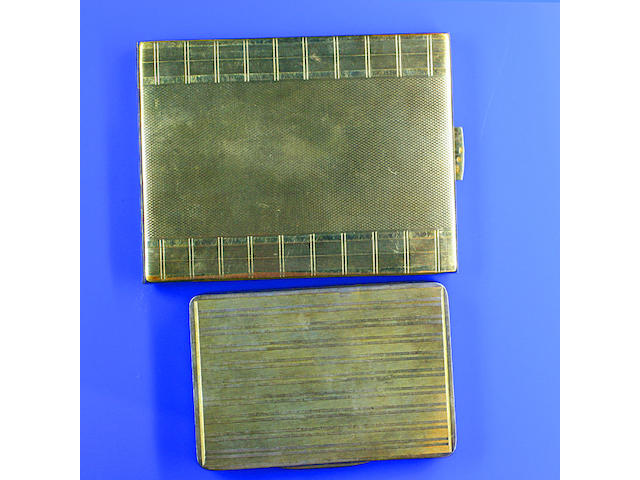 An engine-turned cigarette case