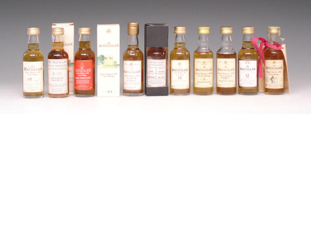 The Macallan miniatures