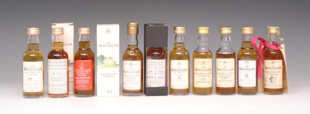 The Macallan miniatures