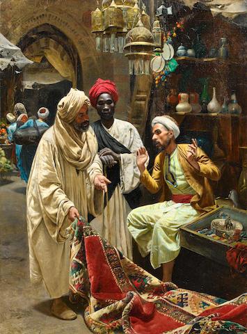Rudolph Swoboda  (II) (Austrian, 1859-1914) The Carpet Seller