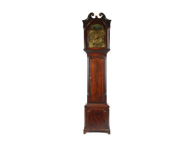 A George III mahogany longcase clock inscribed Barnise (probably John Barnes), Cockermouth, Circa 1800