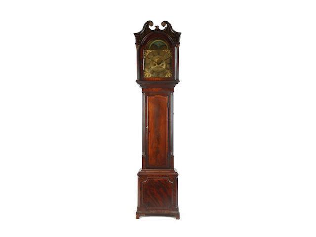 A George III mahogany longcase clock inscribed Barnise (probably John Barnes), Cockermouth, Circa 1800