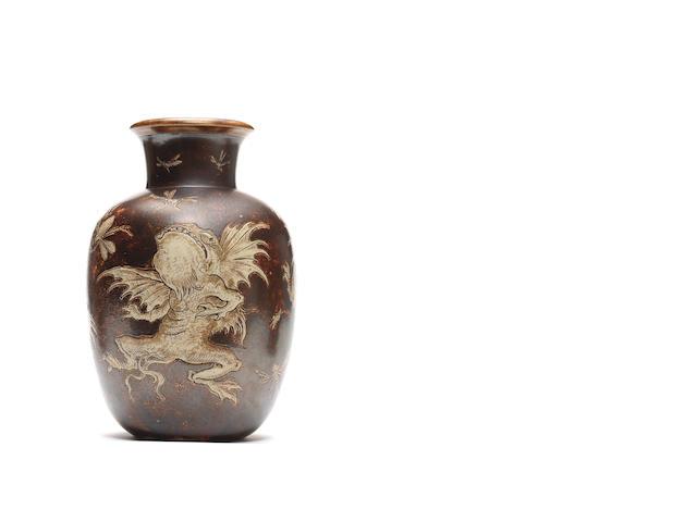 Martin Brothers a superb sgraffito vase, 1897