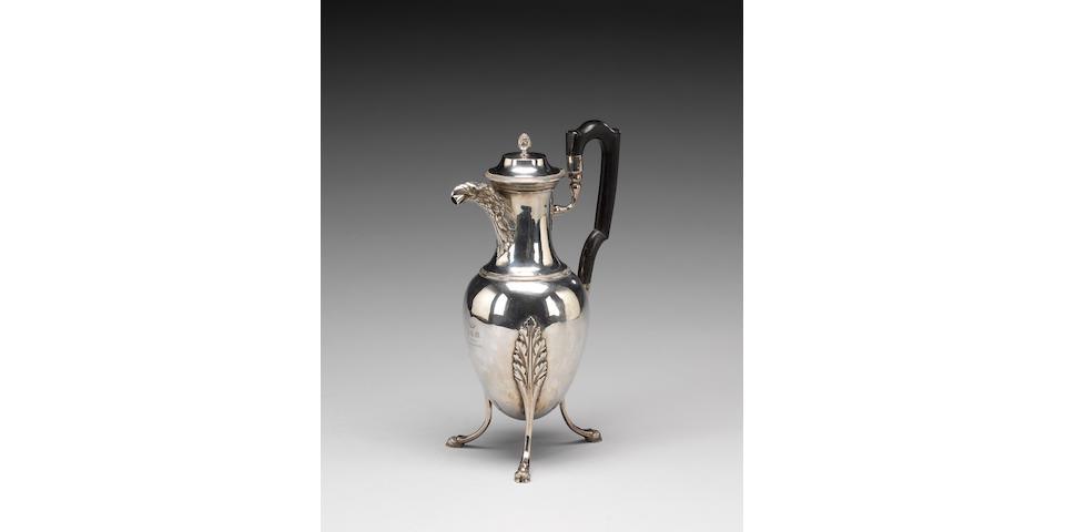 An early 19th Century French silver coffee-pot, by Jean-Baptiste-Claude Odiot, Paris 1798-1809,