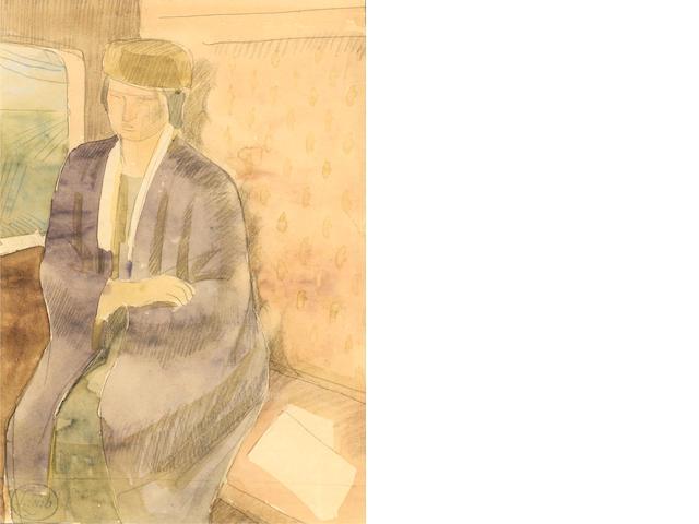 Henry Lamb (British, 1883-1960) Dorelia John 21.3 x 14.8 cm.(8 1/2 x 5 3/4 in.)