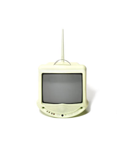 Philippe Starck for Thomson, a 'Zeo' television, designed 1994 mint green