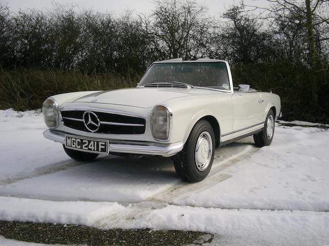 One owner from new; property of a deceased's estate,1968 Mercedes-Benz 280SL Convertible  Chassis no. 11304422001229 Engine no. 13098322000832