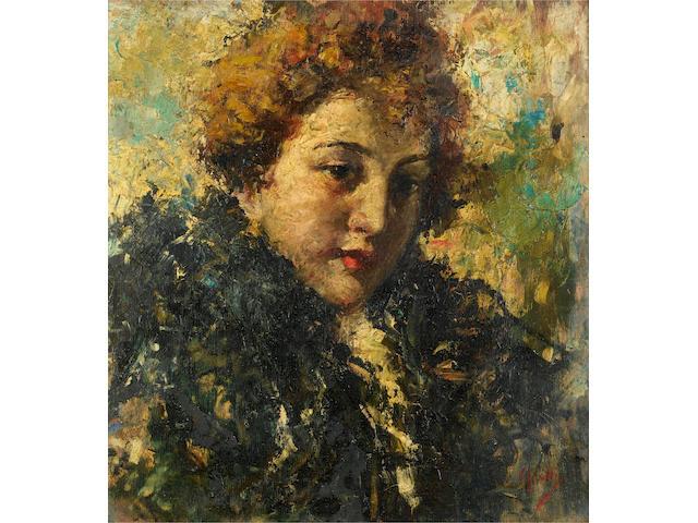 Vincenzo Irolli (Italian, 1860-1945) Portrait of a girl