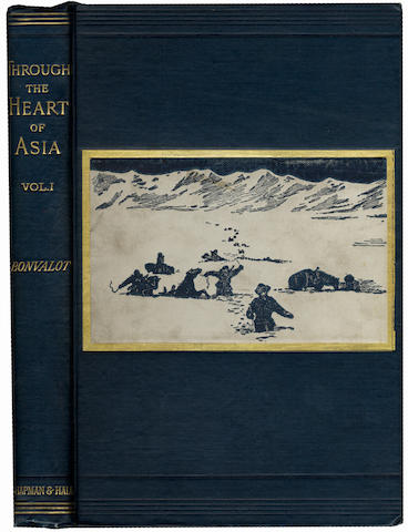 BONVALET (GABRIEL) Through the Heart of Asia. Over the Pamir to India, 2 vol.