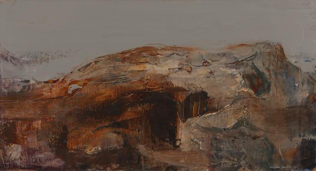 "Mardi Barrie, RSW (British, 1931-2004) ""Stark Hillside"""