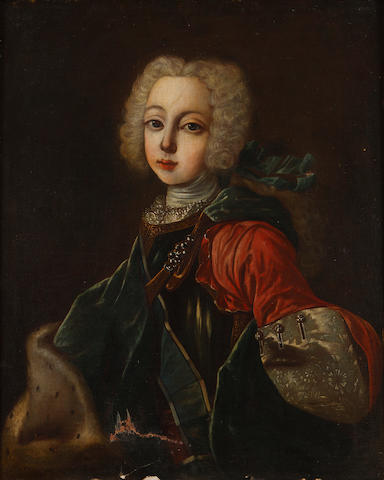 1 oil - Bonnie Prince Charlie as a young boy (old damage to lower edge of canvas)