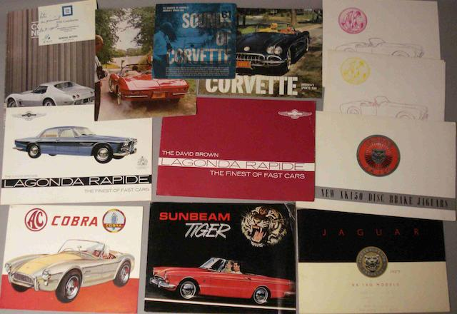 A selection of mainly British marques sales literature,