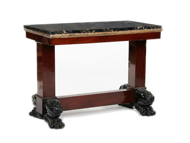 An Italian Empire style mahogany centre table