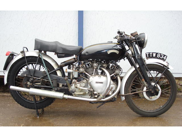 One owner since 1968 1952 Vincent 998cc Rapide Frame no. RC/10111/E Engine no. F10AB/1/8211