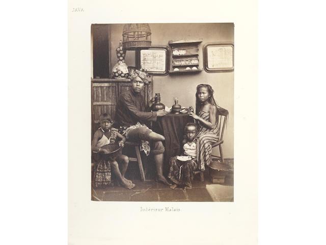 INDONESIA  Album titled in manuscript 'Album ethnographique et archéologique de l'archipel indien', c.1890